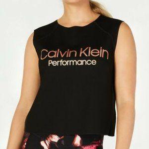 Calvin Klein Performance Logo Cropped Tank Top L
